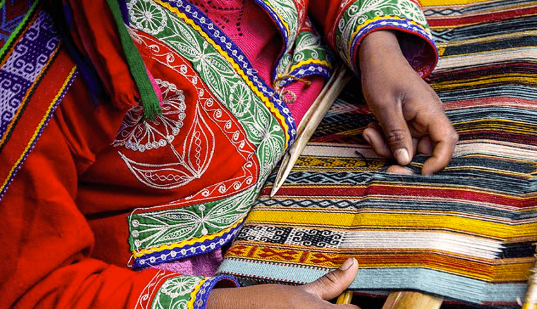 AGUAYO TRADITIONNEL TISSU ANDIN DE LA BOLIVIE
